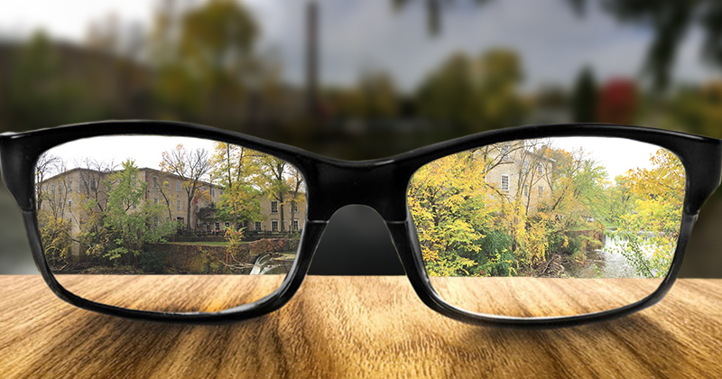 a pair of glasses that are making things clearer